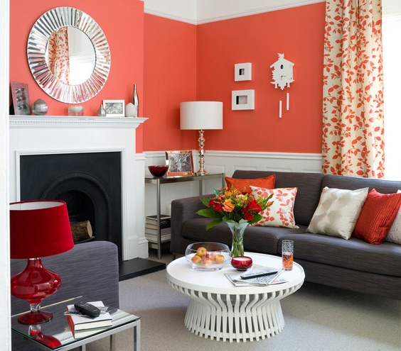 Bold Red(Orange) Is Great When Balanced With A Neutral. This Room Has So  Much Energy. Red Is Intense. Do You Feel Your Blood Pressure Going Up Just  By ...