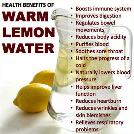 Lemon honey with water